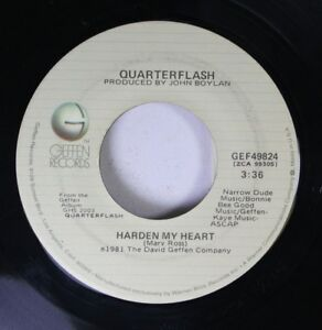 Rock-45-Quarterflash-Harden-My-Heart-Don-039-T-Be-Lonely-On-Geffen-Records
