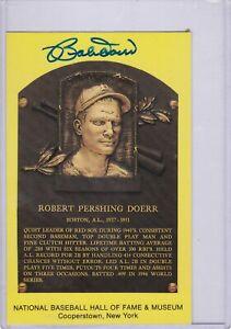 Bobby Doerr Autograph GHOF Post Card