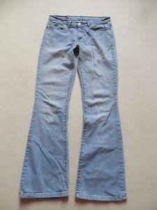 Levi-039-s-529-Damen-Bootcut-Jeans-Hose-W-31-L-34-light-washed-Denim-VINTAGE
