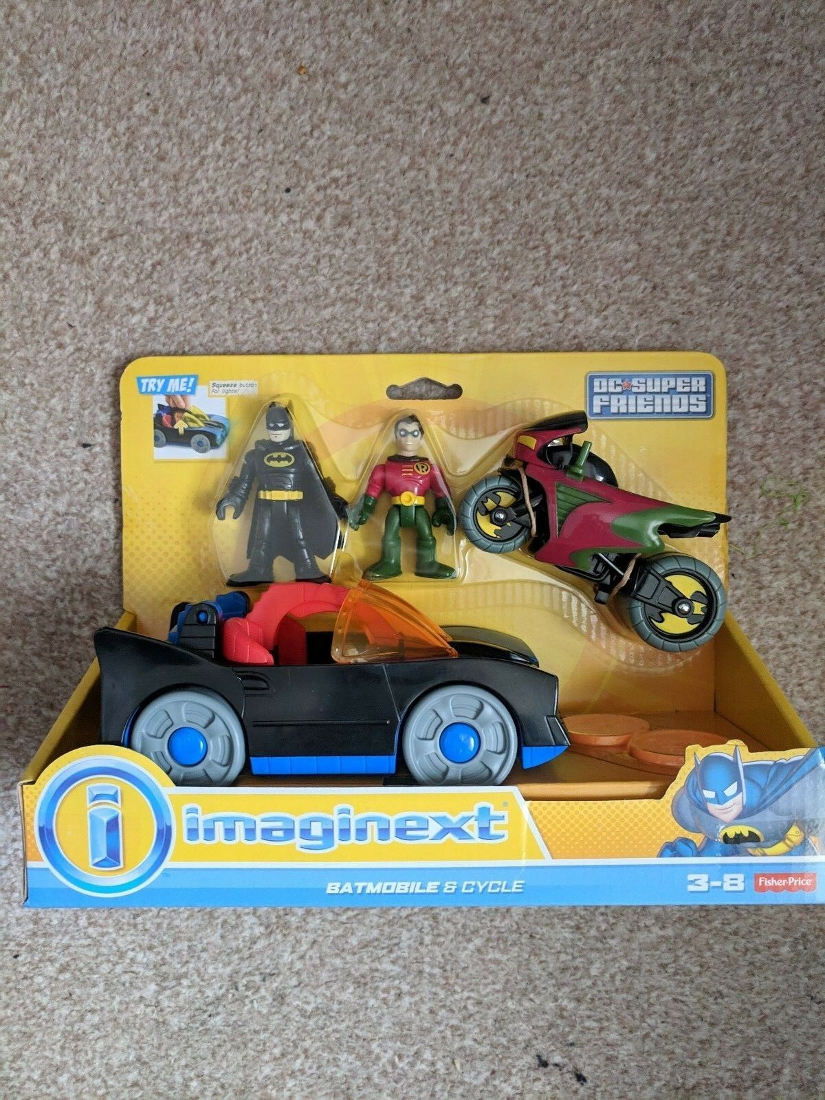 Imaginext Batmobile e ROBIN CYCLE