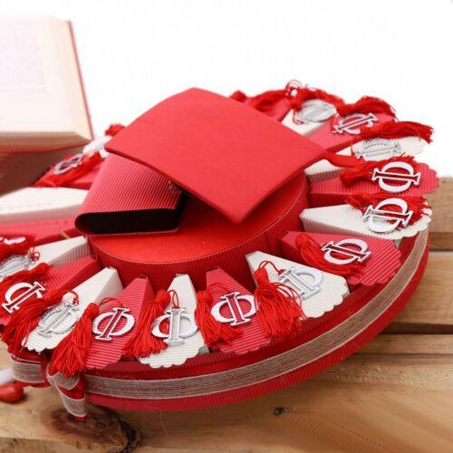 Torta Bomboniera con Lettera Greca Phi per Laurea in Fisica con Confetti