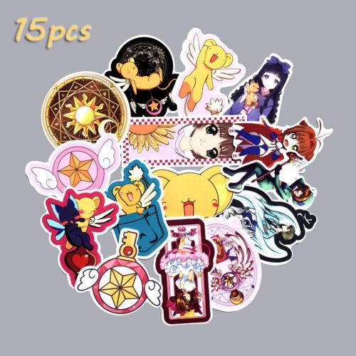 Anime Card Captor SAKURA DIY Stickers 15pcs for Laptop Luggage Datebook Suitcase