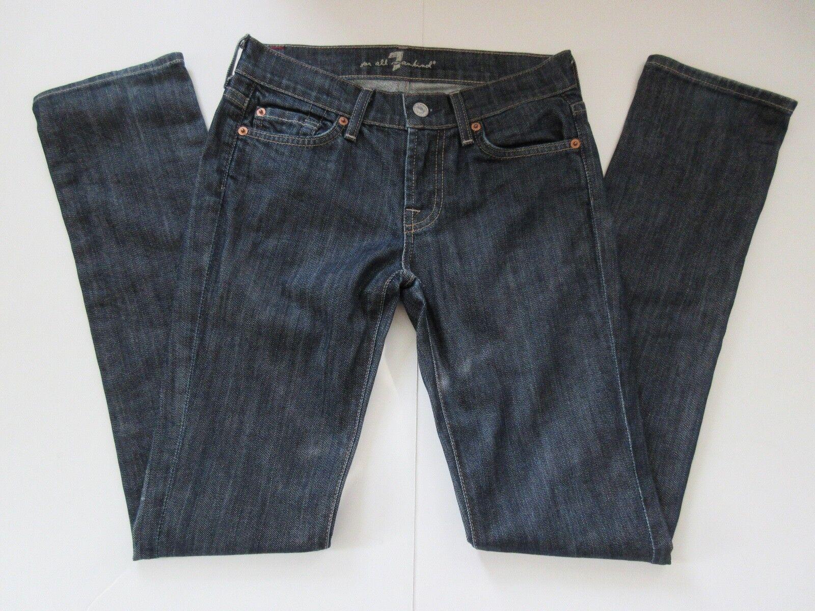 7 For All Mankind Roxanne P179080U-080U Cut 712698 Dark Wash Jeans, Size 25x32