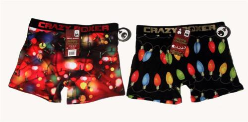 CRAZY BOXER MERRY CHRISTMAS String Lights or Bulbs MNS Boxer Briefs NEW U-PICK