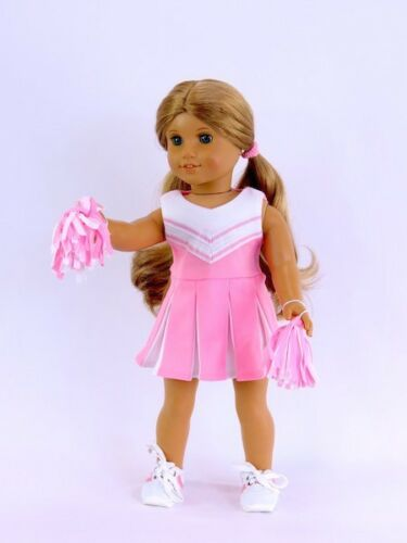 """Doll Clothes 18/"""" Pink Cheerleader Pom Poms Fits American Girl Dolls"""
