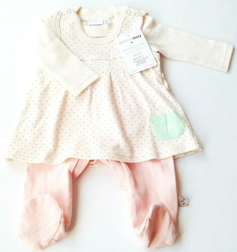 Strampler Kleid Gr.50 //56 Bornino NEU 100/% Baumwolle Shirt Set baby newborn