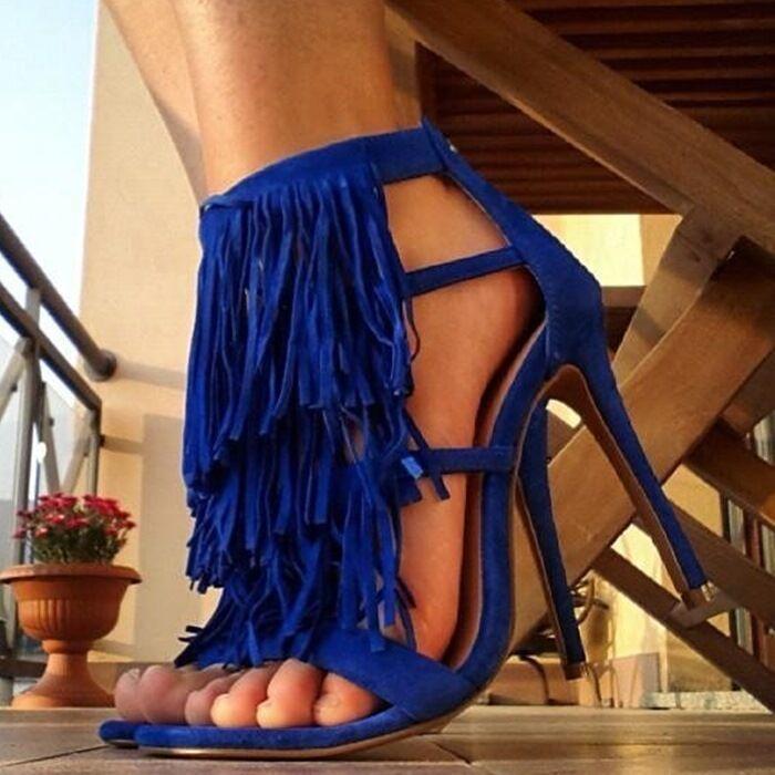 Steve Madden Fringly Blau Fringly Madden heels, Größe 39 871a75