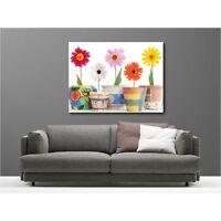 Tableau Toile Déco Fleurs En Pot 3165970