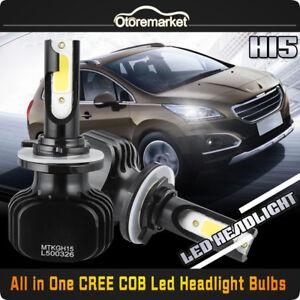 H15 CREE COB LED Headlight Bulb Conversion Kit High Beam DRL