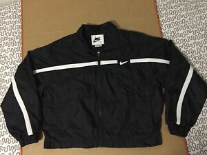 Nike Windbreaker jacket vtg black white