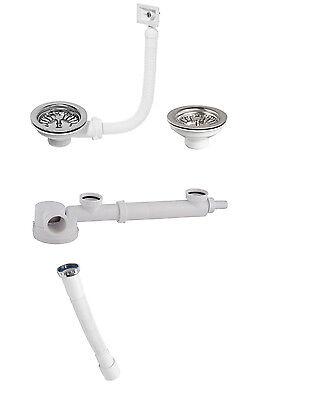 Spülen Siphon niedrig Abstand 160-280 3,5 doppelter Siphon für den  Spültisch