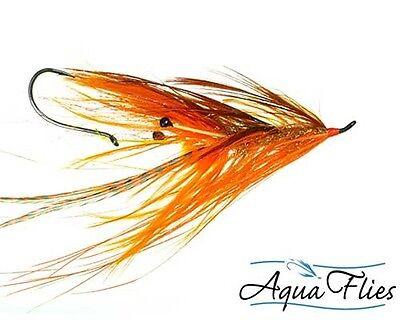 Aqua Flies Stinger Prawn Steelhead Salmon Alaska Rainbow Fly Orange 3 Flies