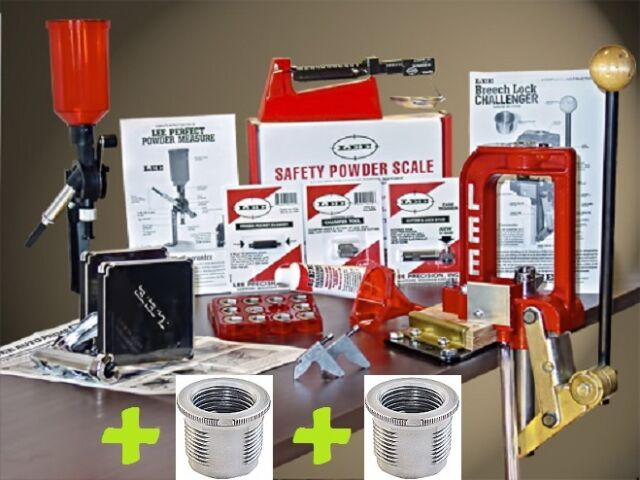 LEE Breech Lock Reloading Kit w/3 Free Quick Change Bushings # 90030+90600 New!