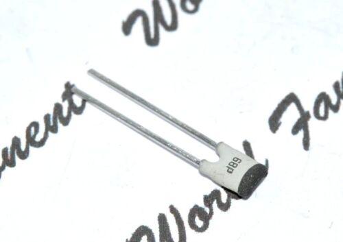 PHILIPS 68P BK 68PF NP0 Ceramic Capacitor 10pcs 100V P:2.5mm NPO