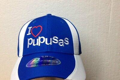 EL Salvador I Love Pupusas Hat Cap Guanaco Performance Authentic