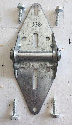 Doelstelling 4 #1 Garage Door Hinge Hardware W/ 4 Wood Lags 14 Gauge Wayne Dalton Overhead