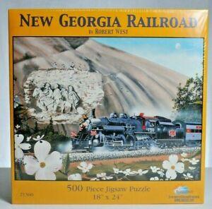 Sunsout-500-piece-Puzzle-034-New-Georgia-Railroad-034-NIB
