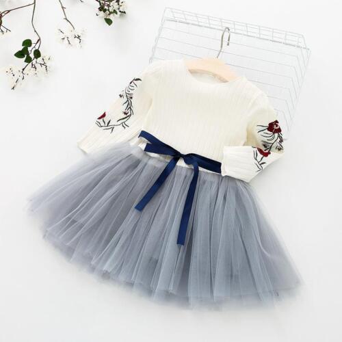 Girls 2018 New Spring Cotton Lovely Dress For Children Girl Sweet Clothes