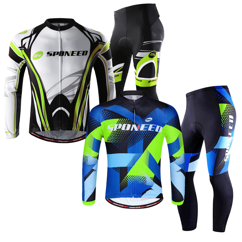 Cycling Jersey & Pant Sets Green for Men Bike Shirt Trousers MTB Cyclist Uniform