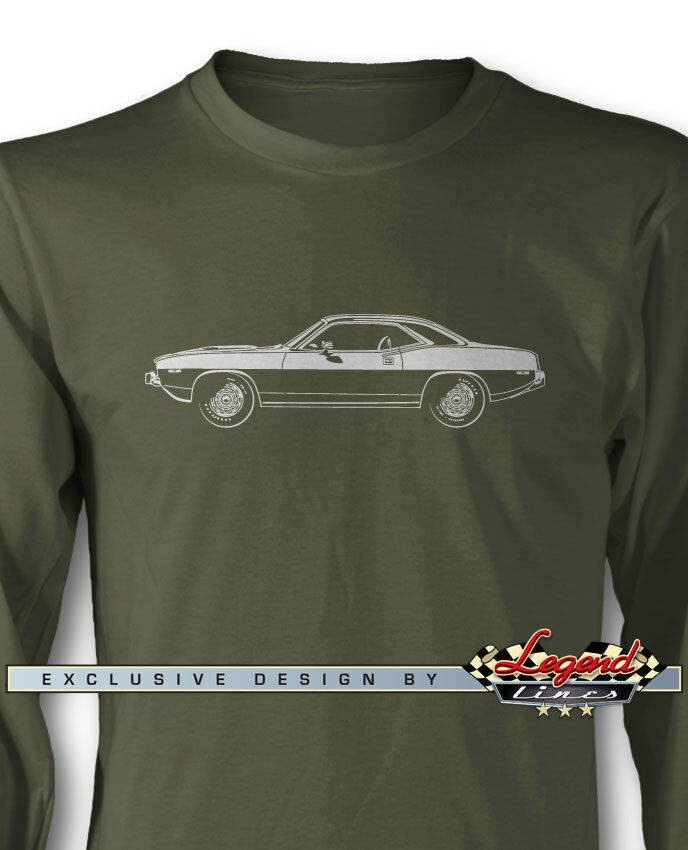 1974 Plymouth 'Cuda Coupe Long Sleeves T-Shirt - Multiple colors and Sizes