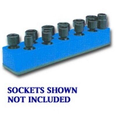 Mechanics Time Saver 980 3/8 In. Dr Blue 11 Hole Impact Socket Holder 9-19mm Carattere Aromatico E Gusto Gradevole