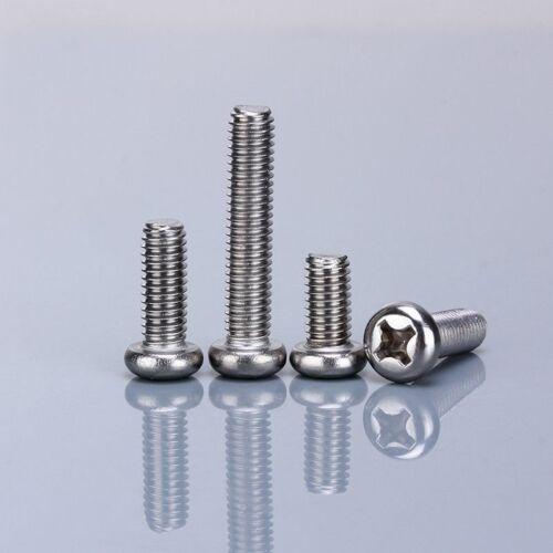 M2.5*3-60mm Pan Head Phillips Screws Machine Screws Bolts G304 Stainless Steel