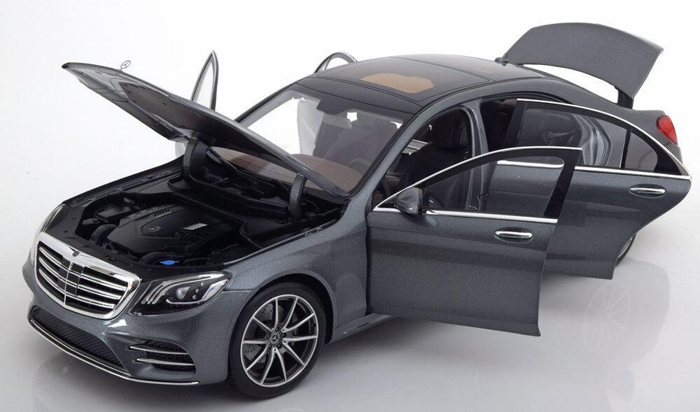 en stock Iscale 2017 Mercedes Benz S Clase V222 Mopf gris gris gris Metálico Dealer Ed 1 18 Nuevo  barato en alta calidad