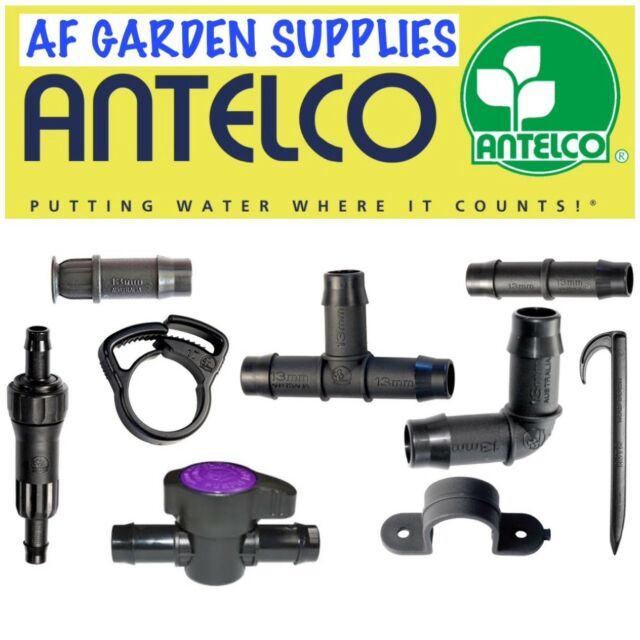 ANTELCO GREEN BACK VALVE 13mm ON OFF DEVICE HOZELOCK COMPATIBLE pack of 2