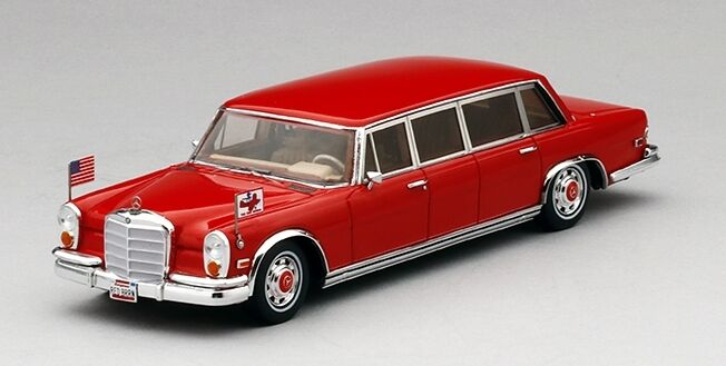 Mercedes Benz 600 Pullman 1972 Red Baron The Hilton Family 1:43 Model
