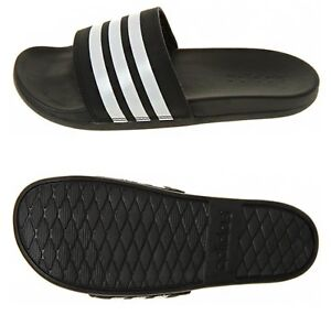 Details about Adidas Men Adilette Comfort Plus 3S Slipper Shoes Black Slide  Sandales AP9971