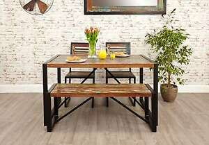 Image Is Loading Urban Chic Reclaimed Wood Indian Furniture Dining Table