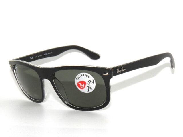 84fa49fd54b6 Ray Ban Sunglasses 4226 6052 9A 56 Matte Black On Trans.Green Polarized  Rayban