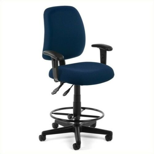 OFM Posture Task Drafting Office Chair with Arms and Drafting Kit in Navy