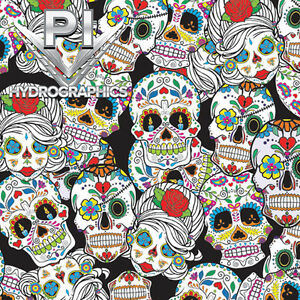 HYDRO DIP WATER TRANSFER HYDROGRAPHIC FILM REAL SKULLS