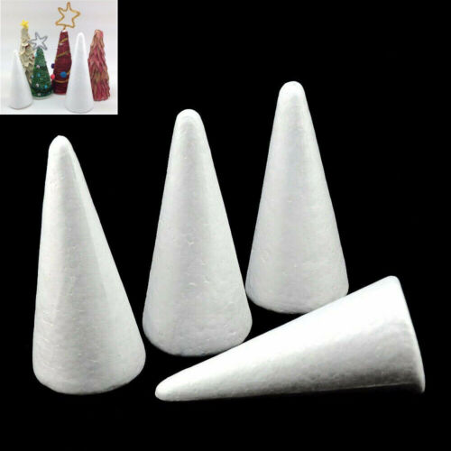 5PCS White Cone Tree Polystyrene Styrofoam Foam Model For Xmas Party Craft Decor