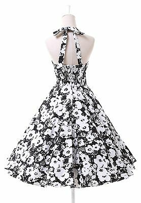 Sexy Vintage 50s 60s Swing Dancing Floral Party Pinup Cotton Dress