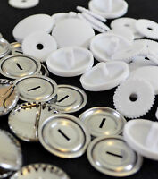 Hemline Self Cover Buttons - Metal and Plastic - All Sizes 11 15 19 22 29 38mm