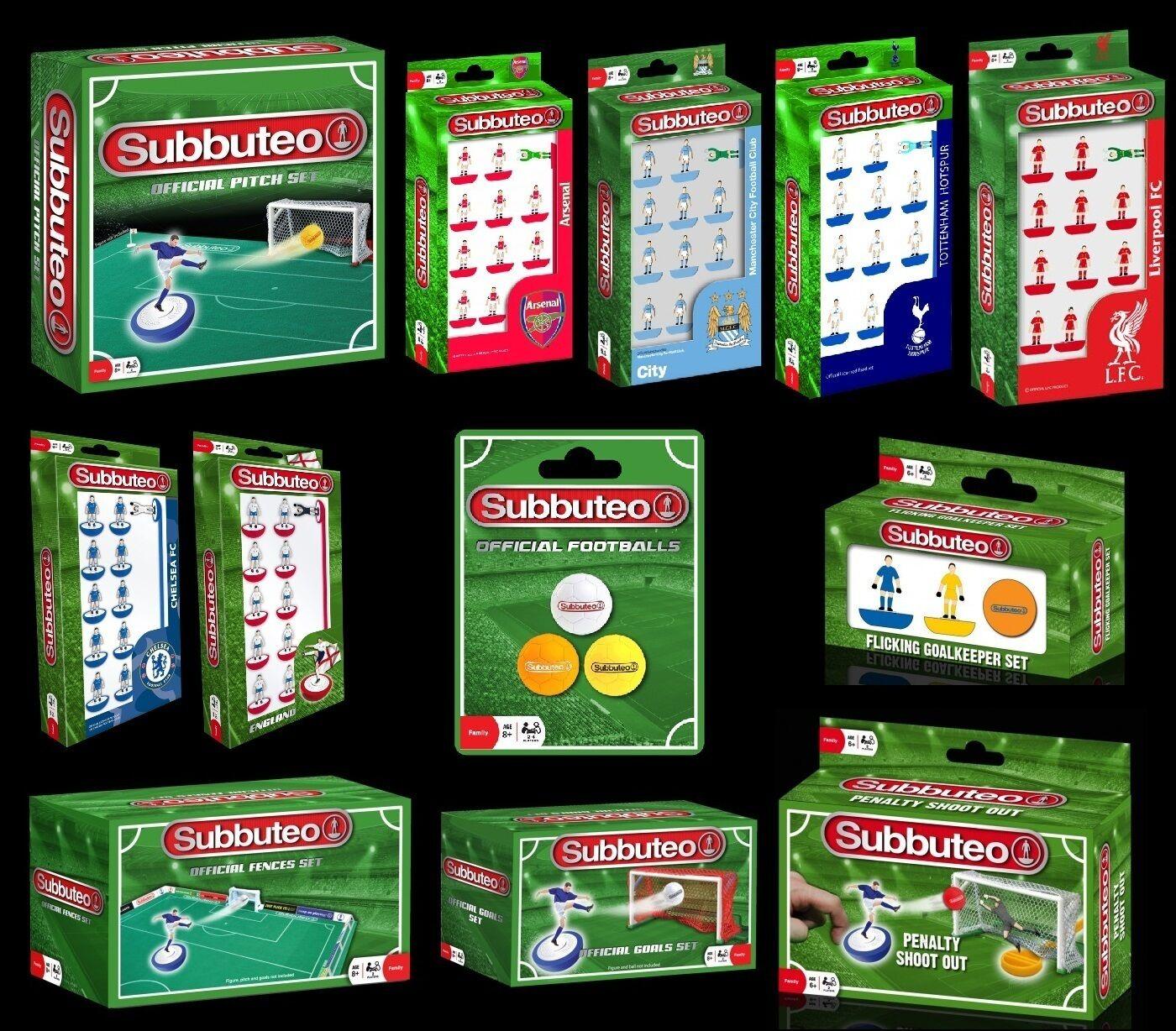 SUBBUTEO Table Football Game (BRAND NEW) Teams & Accessories {Paul Lamond Games}
