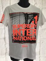 Superdry Brooklyn Tee Men's T-Shirt Top Size Large Optic Christmas Gift RRP £25