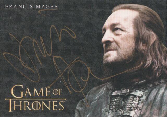 Game Of Thrones Season 8 Francis Magee Yoren Gold Autograph Card Ebay