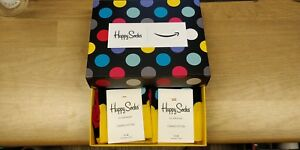 2-PAIRS-ORIGINAL-HAPPY-SOCKS-Men-Polka-Dot-NEW-Genuine-Boxed-Combed-Cotton-7-11