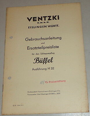 Farming & Agriculture 1941 Strengthening Sinews And Bones Operating Instructions Ventzki Schlepperpflug Buffalo H 32 Stand Approx Motors
