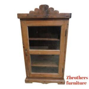 Details About Antique Primitive Architectural Salvage Hutch China Cabinet Cupboard M A