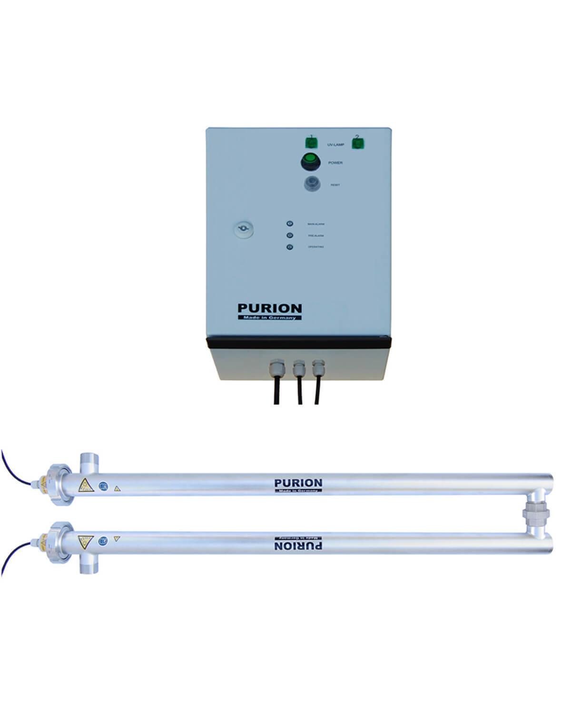 PURION 2500 90W 230V Dual OTC, Lampenlaufzeitmesser UV-C-Lampenwechsel