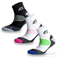 3 Pairs More Mile London Sports Ankle Cushioned Running Socks Mens Ladies Womens