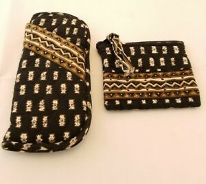 5d5fcf56933e VERA BRADLEY Soft Double Eyeglass Case and Zippered Change Purse in ...