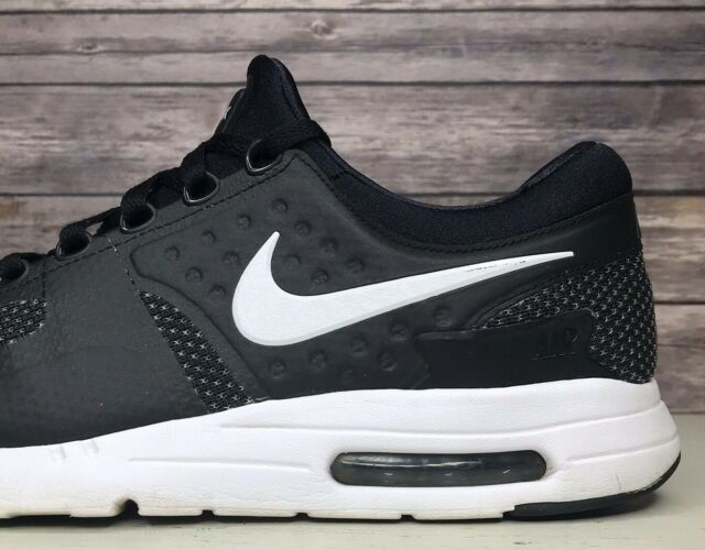 outlet store 61a8b 63799 Nike Air Max Zero Essential Black Running Fashion Shoes 876070-004 Men's  Size 10