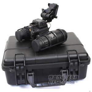 Tactical-Airsoft-Dummy-Metal-PVS-15-NVG-L4G24-Helmet-Mount-ABS-Box