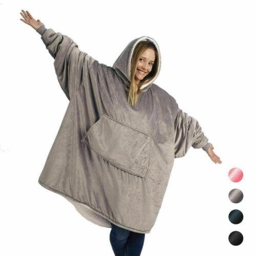 Blanket Sweatshirt Hoodi1 Ultra Plush1 Blanket1Camping Warm Soft Coat Wear