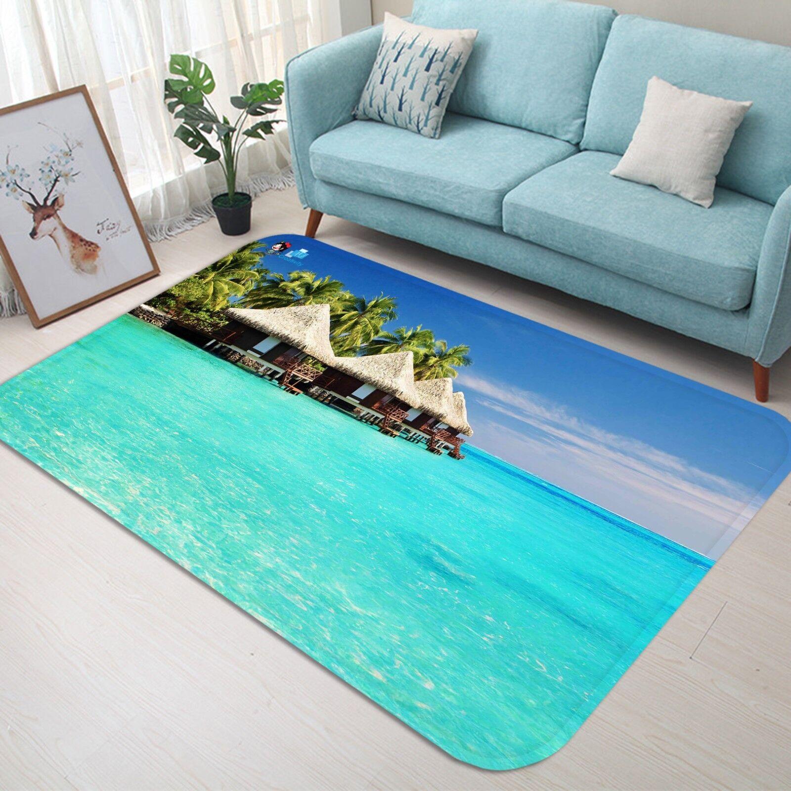 3D Sea Pavilions 053 Non Slip Rug Mat Room Mat Quality Elegant Photo Carpet AU